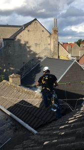 Trabajos verticales en tejados